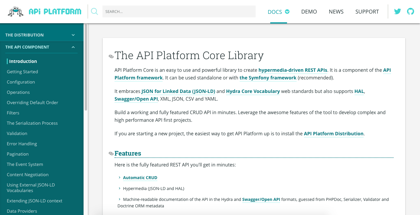 Updated documentation of API Platform is now clear and useful