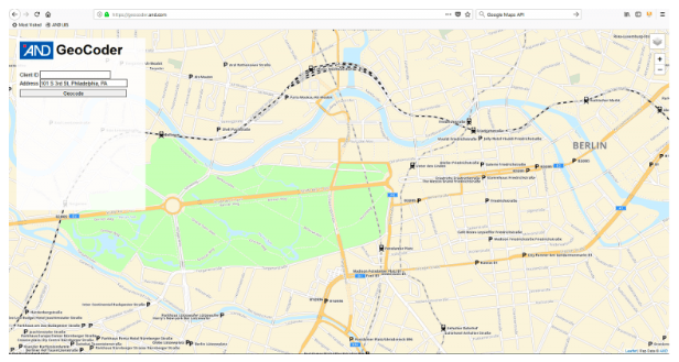 AND is another Google Maps API alternative