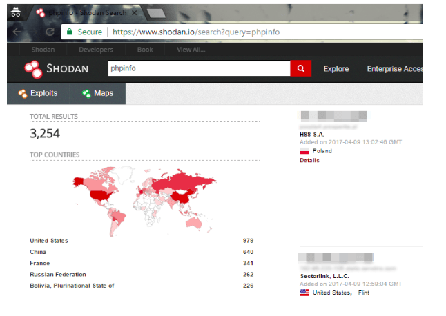 Shodan shows which devices are connected to the Internet
