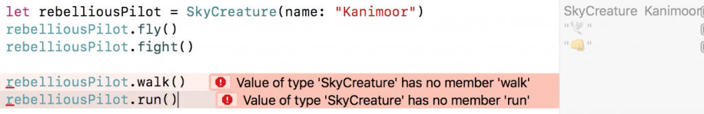 A screenshot with a fragment of a code (skycreature)