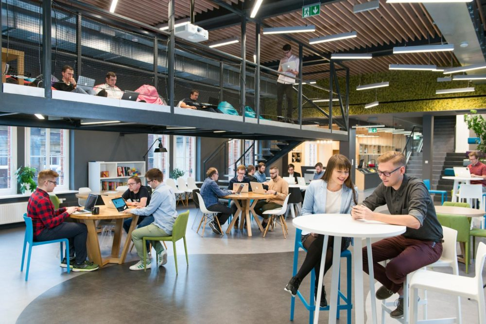 the software house hq at old post office in gliwice - a great place to work for programmers