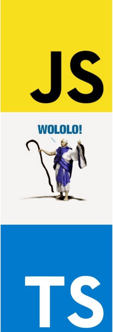 javascript to typescript meme wololo