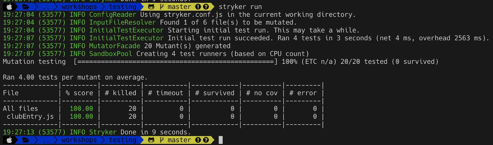mutation testing code