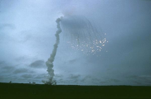 Debris of Ariane 5 rocket after flight 501