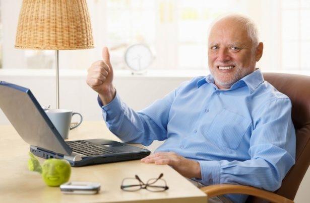 stock guy meme thumbs up