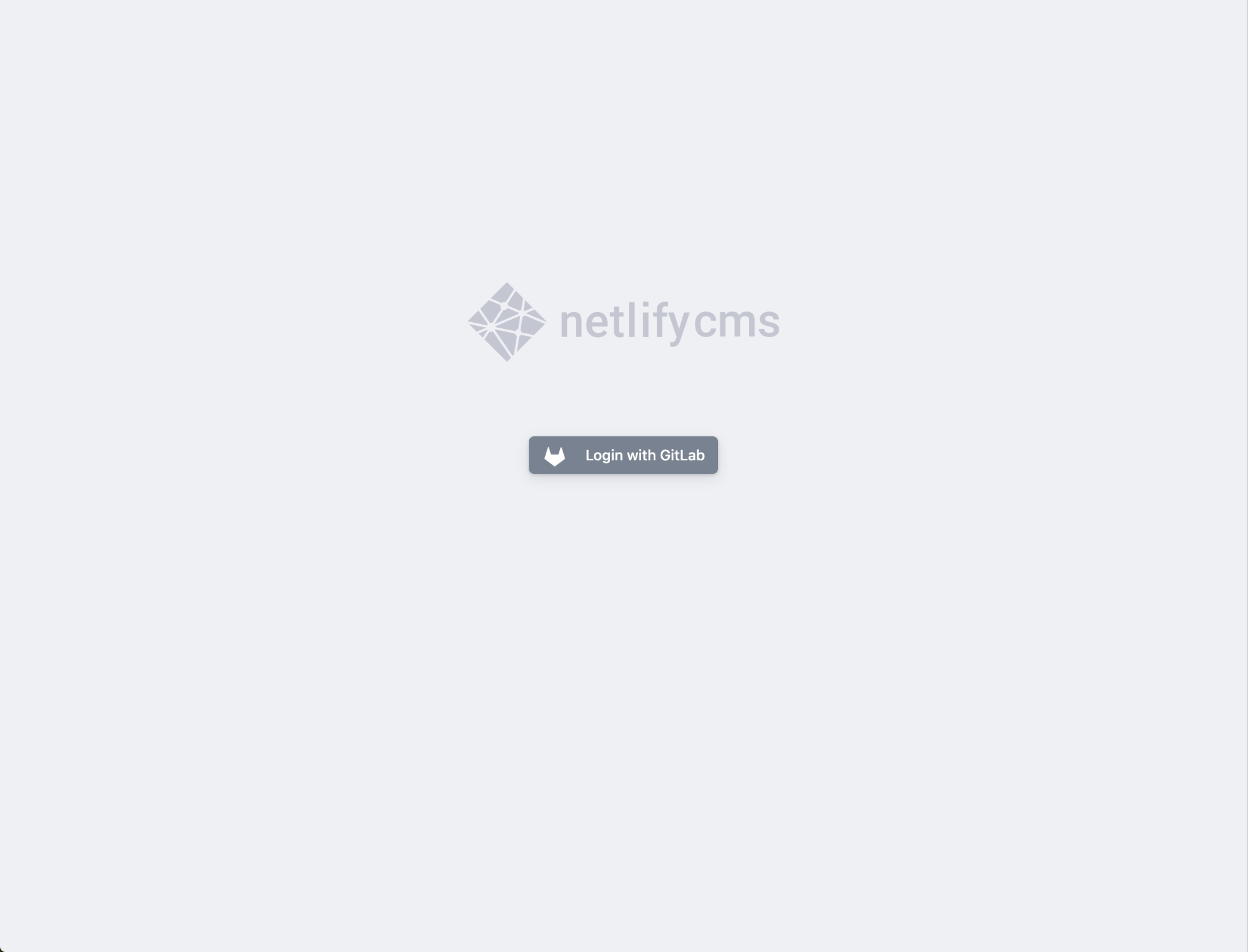 A screenshot shows a login prompt in Netlify CMS