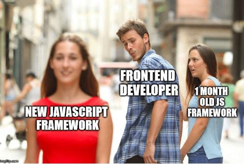 javascript frameworks meme
