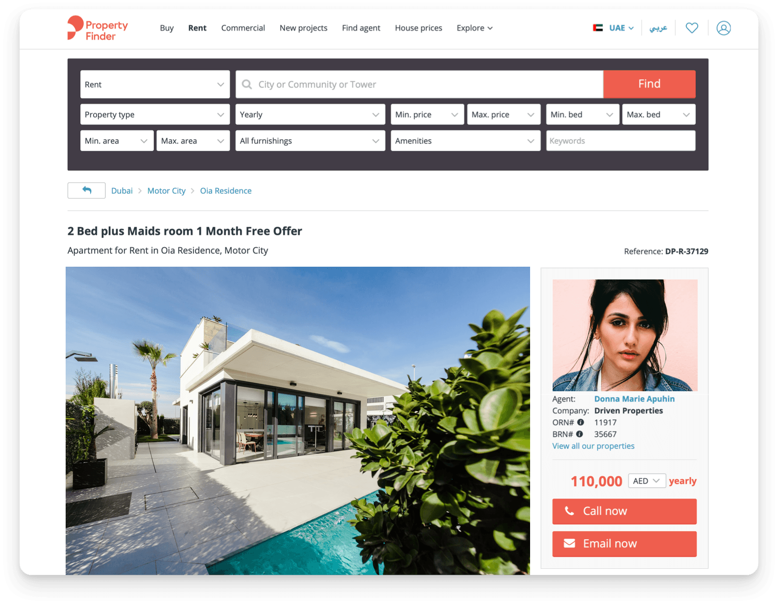 Property Finder real estate marketplace in the UAE case study