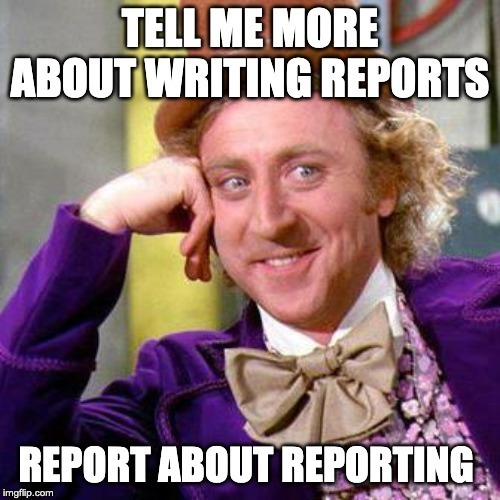 A meme about writing reports with the use of Cypress and Mochawesome