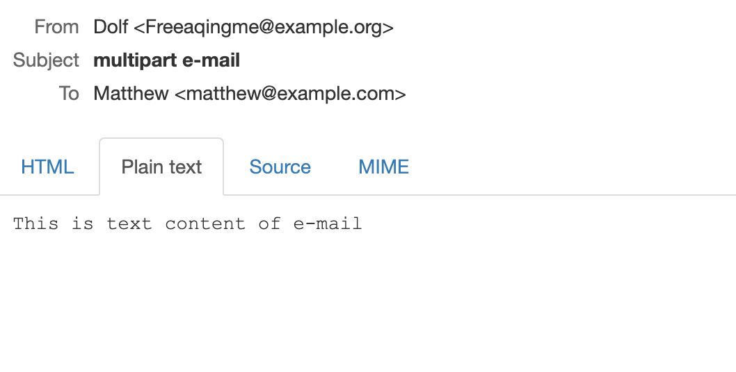 An example of a text and html email in Zend.