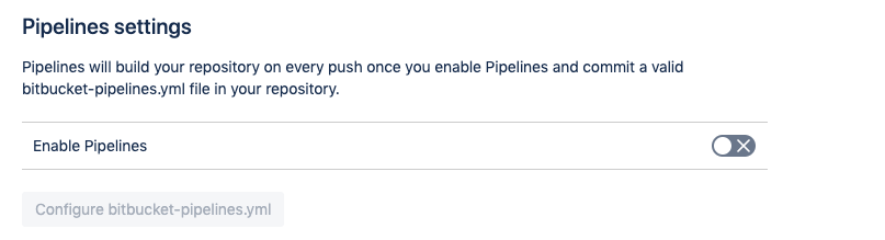 An example of disabled pipelines which needed to be enabled