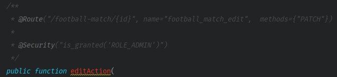 Screenshot with a code example regarding security