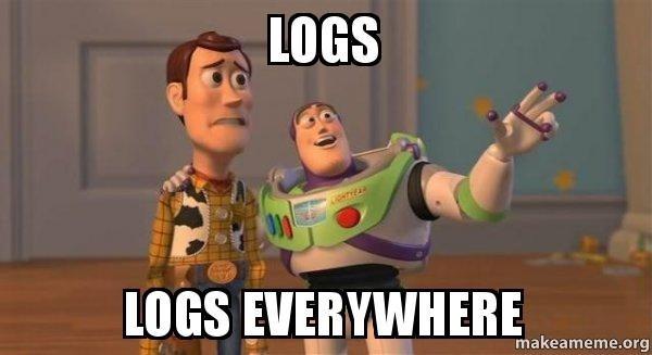 logs everywhere meme