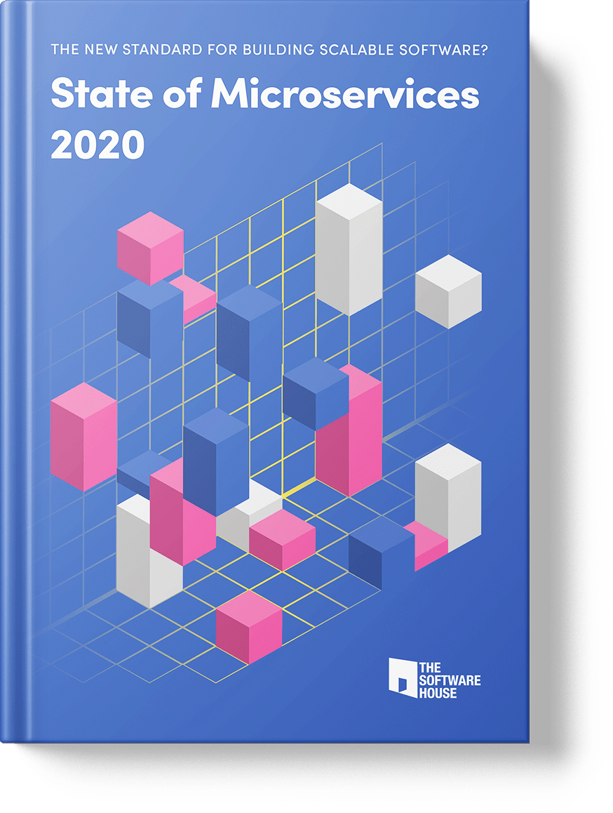 cover of the report on microservice architecture in 2020