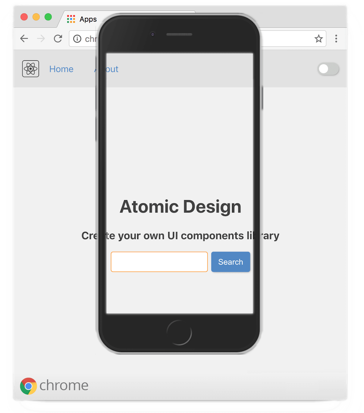 A screenshot for atomic design article