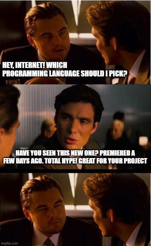 digital transformation consulting picking programming language meme