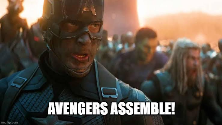 software team development avengers assemble meme