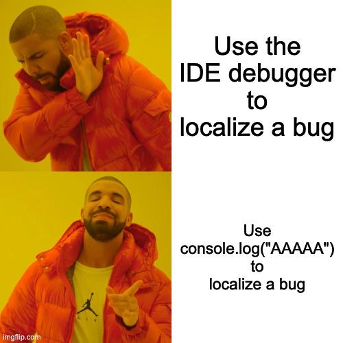 node js debugging vs code meme