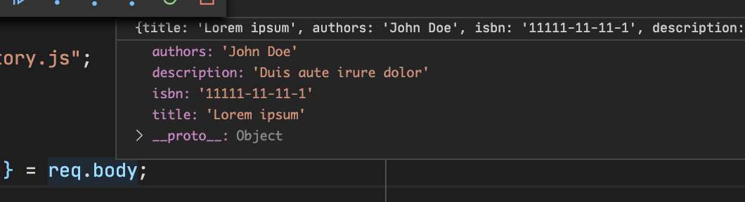node js type node request launch during debug session