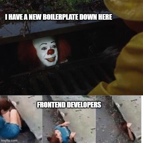 react starter meme