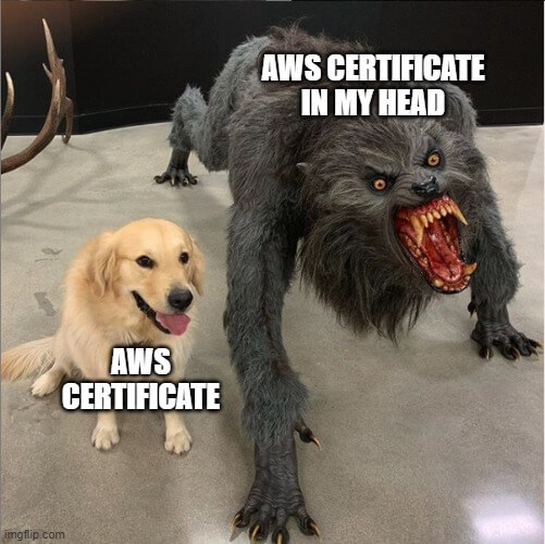aws certification meme